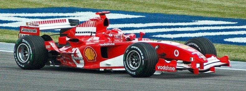 Michael Schuhmacher im Ferrari