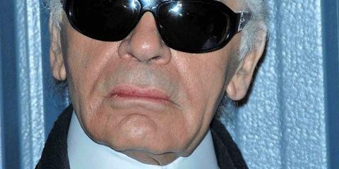 Karl Lagerfeld selfie