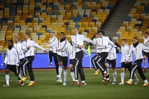 Deutsche Nationalmannschaft beim Training