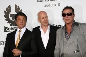 Sylvester Stallone, Bruce Willis und Mickey Rourke