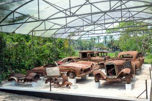 Zerstörte Autosammlung von Pablo Escobar