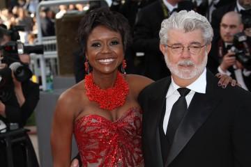George Lucas mit Frau Mellody Hobson