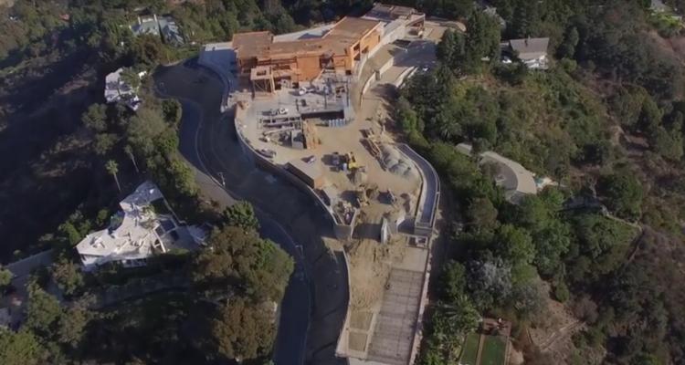 Teuerste villa der welt 2018  Luftaufnahmen der teuersten im Bau befindlichen Villa der Welt