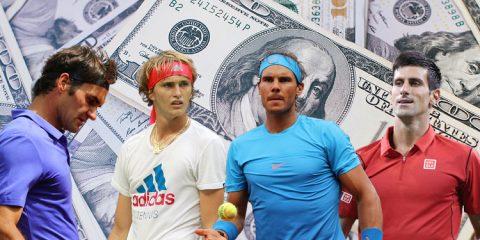 Preisgelder der Tennis Stars